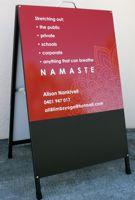 a-frame sign chalk board vinyl